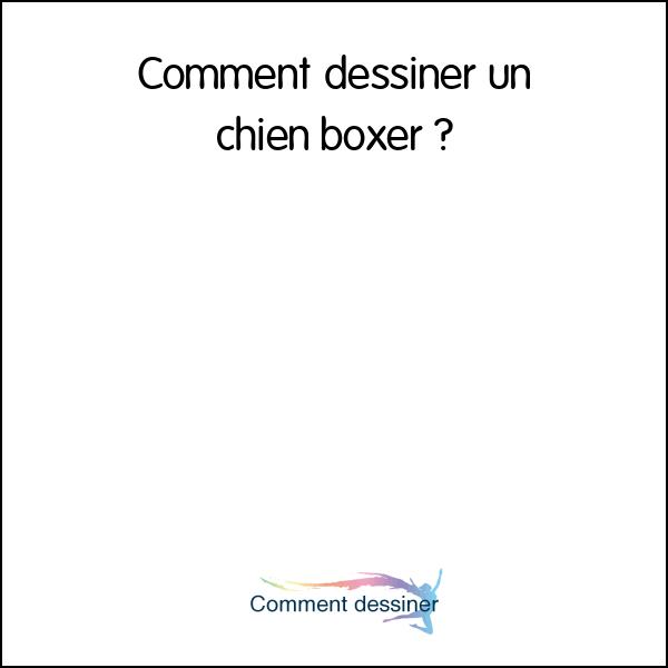 Comment dessiner un chien boxer comment dessiner - Dessin chien boxer ...