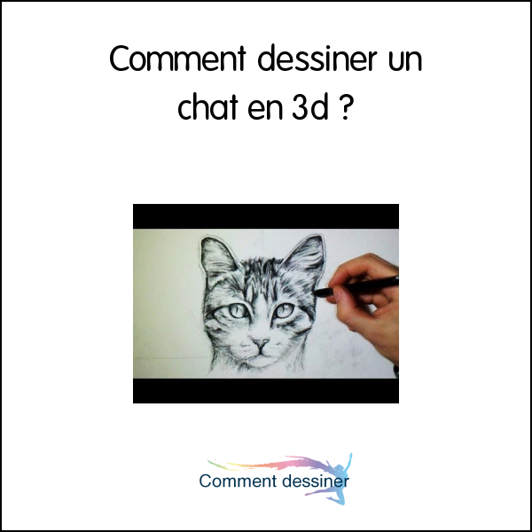Comment dessiner un chat en 3d