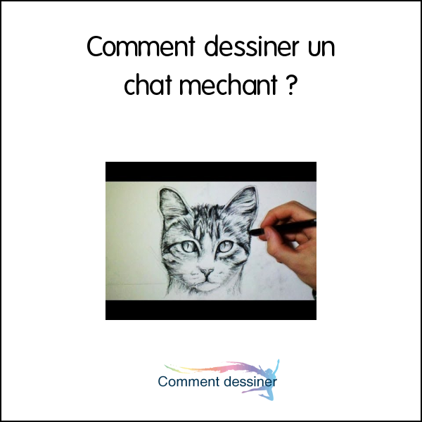 Comment dessiner un chat mechant